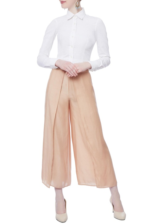 Light pink flared pants