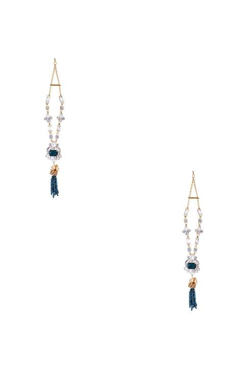 Gold plated swarovski & beaded earrings