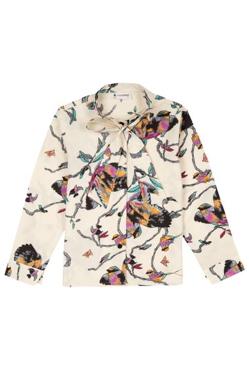 Multicolored watercolor printed shirt