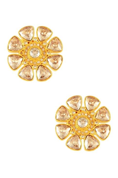 Gold plated Tarun Tahiliani stud earrings