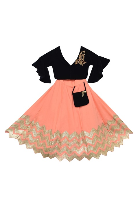 Embroidered lehenga with blouse