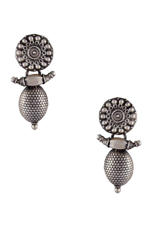 Antique finish statement earrings