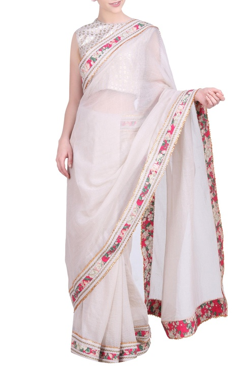 Kota doria gota border saree with blouse