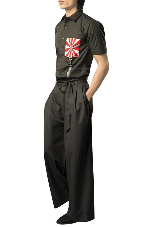 High waist hakama pants