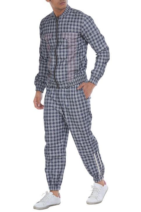 Checkered jogger pants