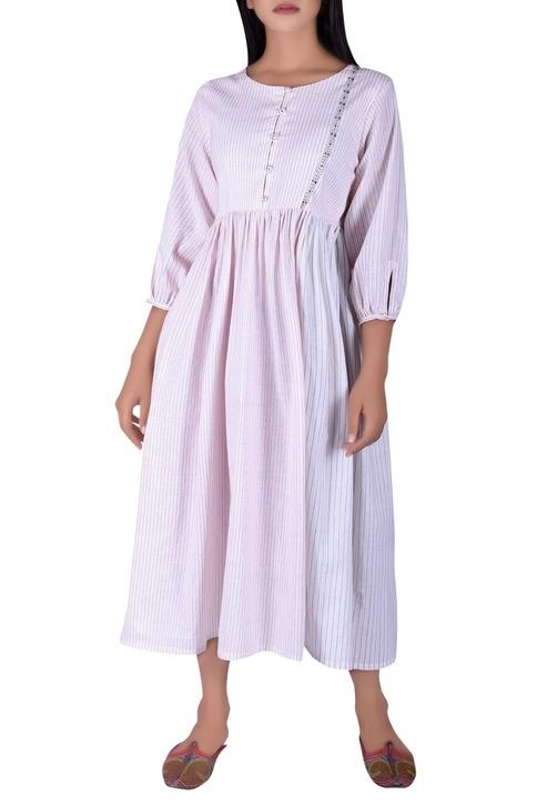 Hand katha detail maxi dress