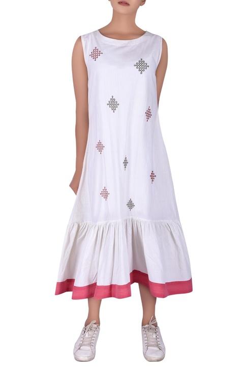 Hand embroidered midi dress