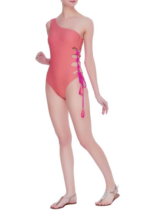 Side tie up swimsuit