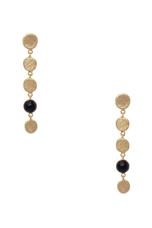Drop earrings with gemstone