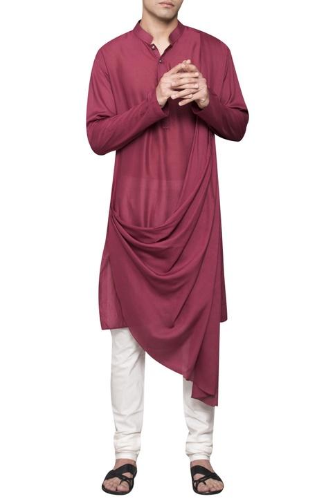 Cowl pleated kurta