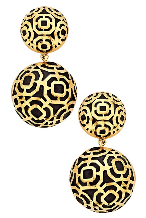 Circular shaped earrings