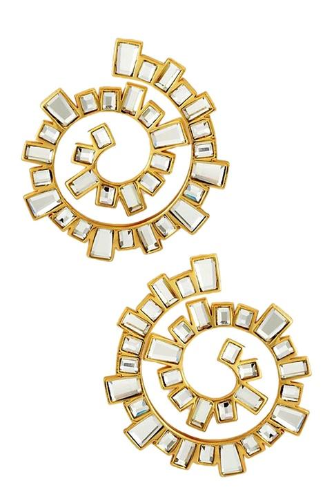 Mirror spiral earrings