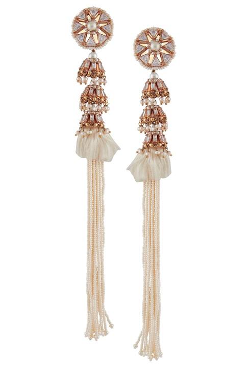 Heritage pearl tassel earrings