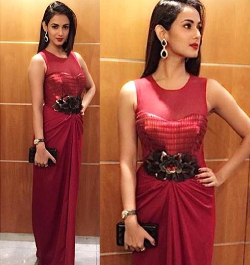 Sonal Chauhan in aza designer  Amit Aggarwal