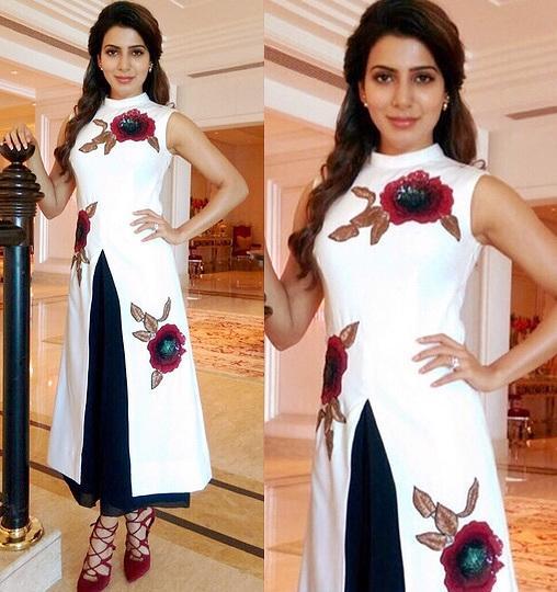 Samantha Prabhu in aza designer  Ridhi Mehra