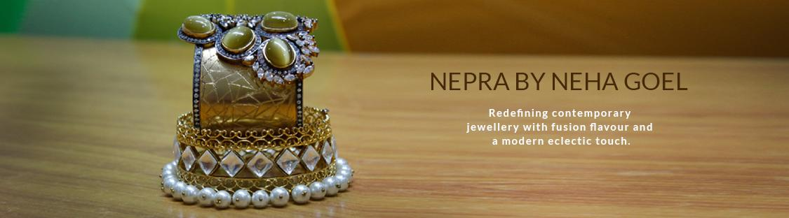 nepra by neha goel kundan and earing jewellery at aza fashions. Black Bedroom Furniture Sets. Home Design Ideas