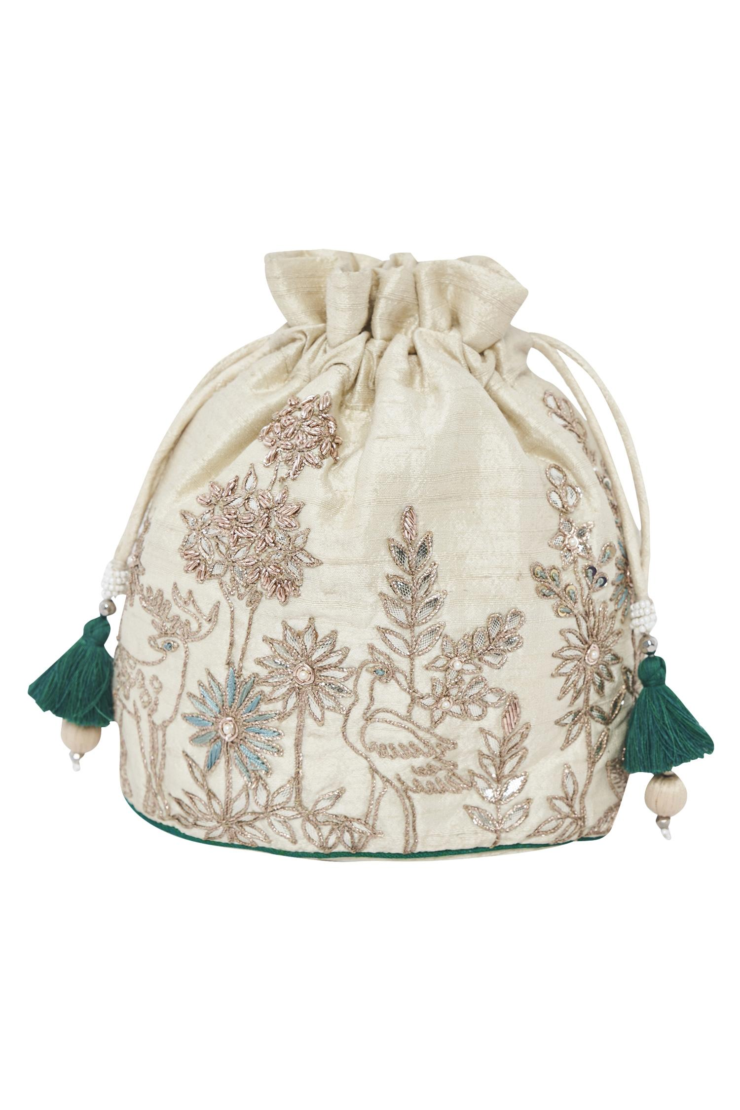 Dori Embroidered Potli Bag