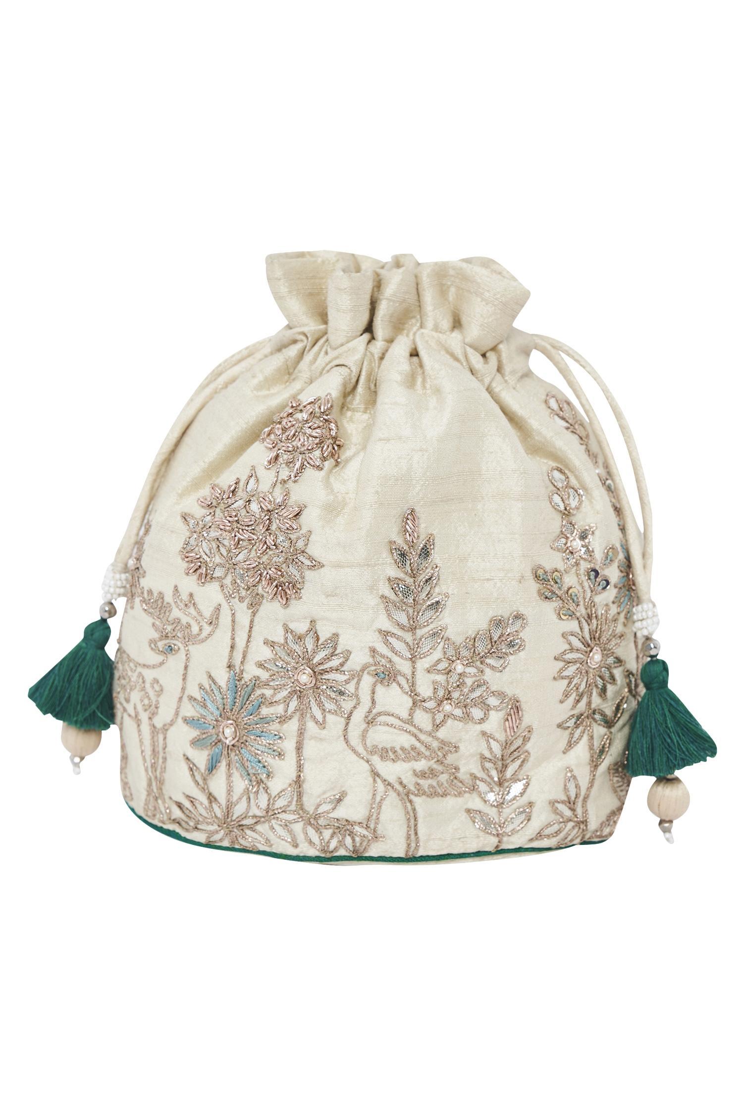 Dori Embroidered Potli Bag