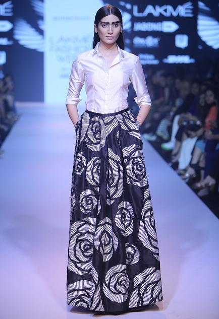 Latest Collection of Skirts by Nachiket Barve