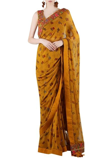Latest Collection of Saris by Nikasha