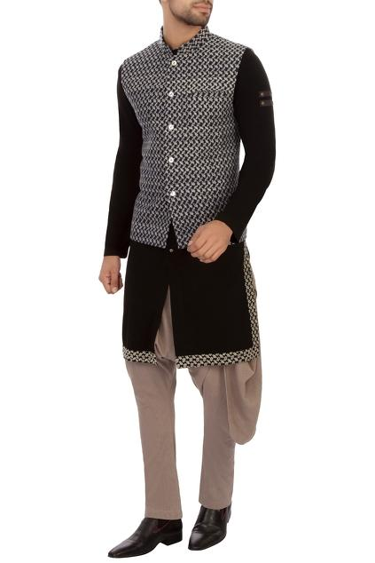 Latest Collection of Nehru Jackets by Fahd Khatri - Men