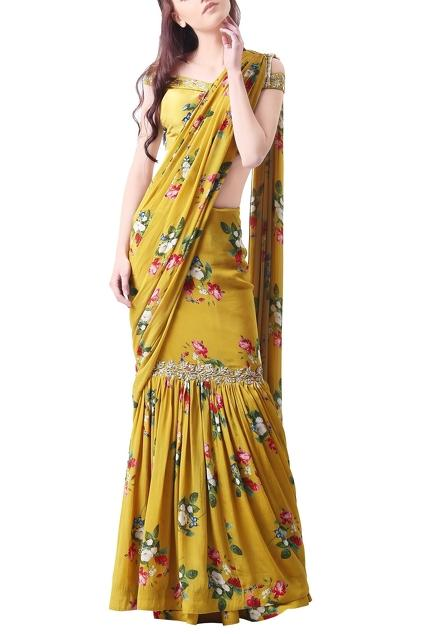 Latest Collection of Saris by Mahima Mahajan