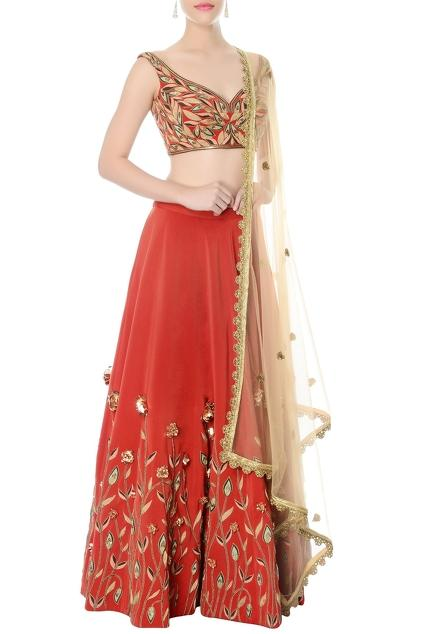 Latest Collection of Lehengas by Nikhil Thampi