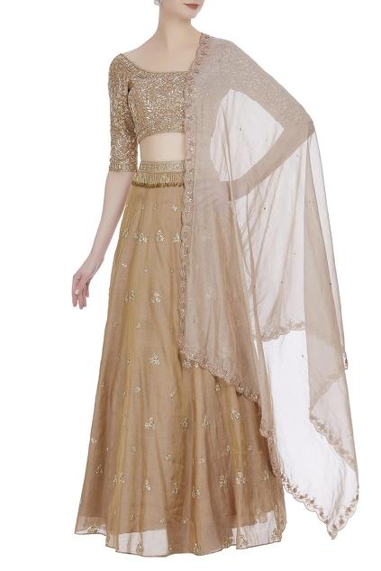 Latest Collection of Lehengas by Pleats by kaksha & Dimple