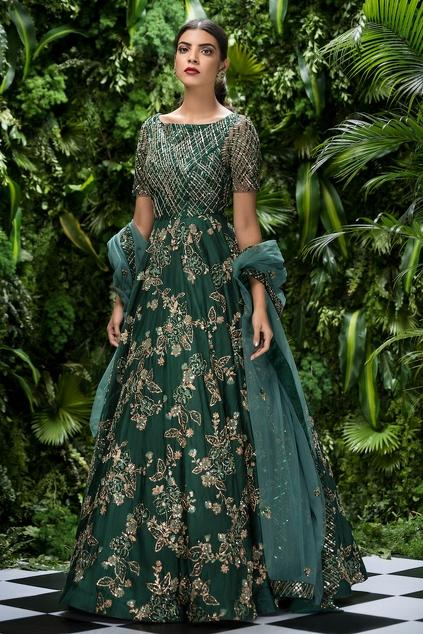 Latest Collection of Gowns by Shyamal & Bhumika