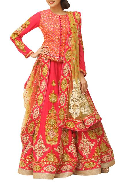 Latest Collection of Lehengas by Krishna Mehta