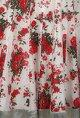 Joy MitraIvory kurta with floral printed skirt and stole