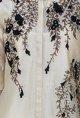 Joy MitraBeige embroidered long kurta with churidaar & stole