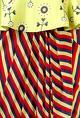SOUP by Sougat Paul Lemon green & red peplum dress