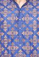 Vivek KarunakaranDeep blue motif embroidered kurta set