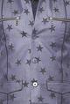 Vivek KarunakaranDark grey star printed zipper bandi