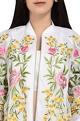 Shriya SomWhite embroidered bomber jacket