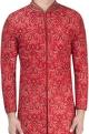 Red lucknowi sherwani