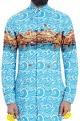 Mr. Ajay Kumar - MenSky blue wave print shirt