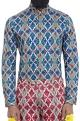 Mr. Ajay Kumar - MenCobalt blue printed shirt