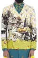 Mr. Ajay Kumar - MenMulti-colored golden ghat print jacket