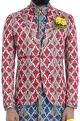 Mr. Ajay Kumar - Men Multi-colored motif print blazer