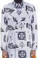 Mr. Ajay Kumar - MenWhite & black printed trench coat