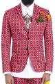Mr. Ajay Kumar - Men Red motif print blazer
