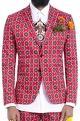 Mr. Ajay Kumar - MenRed motif print blazer