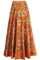Taika by Poonam BhagatOrange skirt with gold embellishment