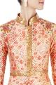 Orange floral printed kurta set