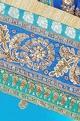Turquoise blue embellished sari