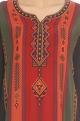 Black kurta set with multi colored print