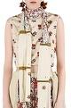 NikashaBeige printed & embellished pant set