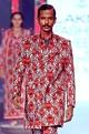 Mr. Ajay Kumar - Men Red printed trench coat